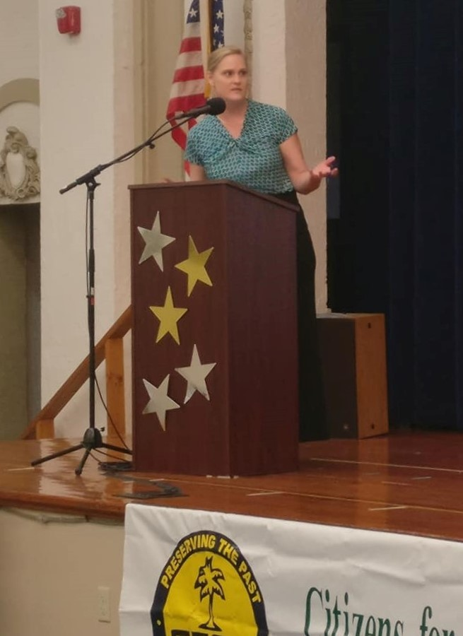 2018 Candidates Forum Liz Myers speaking